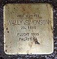 Stolperstein Georg-Wilhelm-Str 2 (Halsee) Wally Simonson.jpg