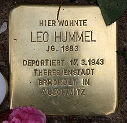 Photo of Leo Hummel brass plaque