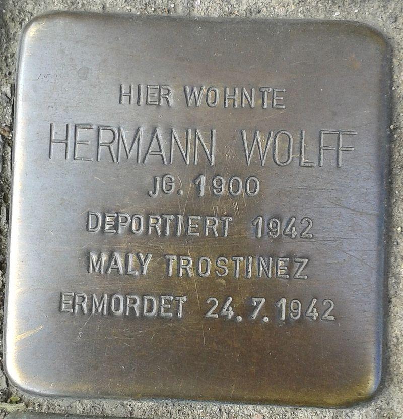 Stolperstein Hennef Bonner Straße 69 Hermann Wolff