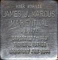 Stolperstein Köln, James J. Marcus Marienthal (Samariter Straße 4).jpg