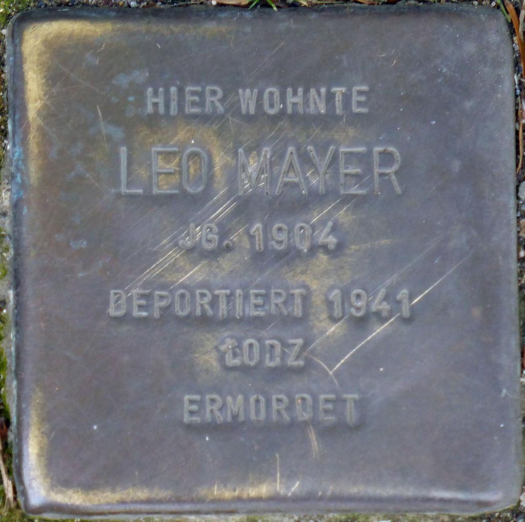 Stolperstein Köln, Leo Mayer (Marktstraße 6).jpg
