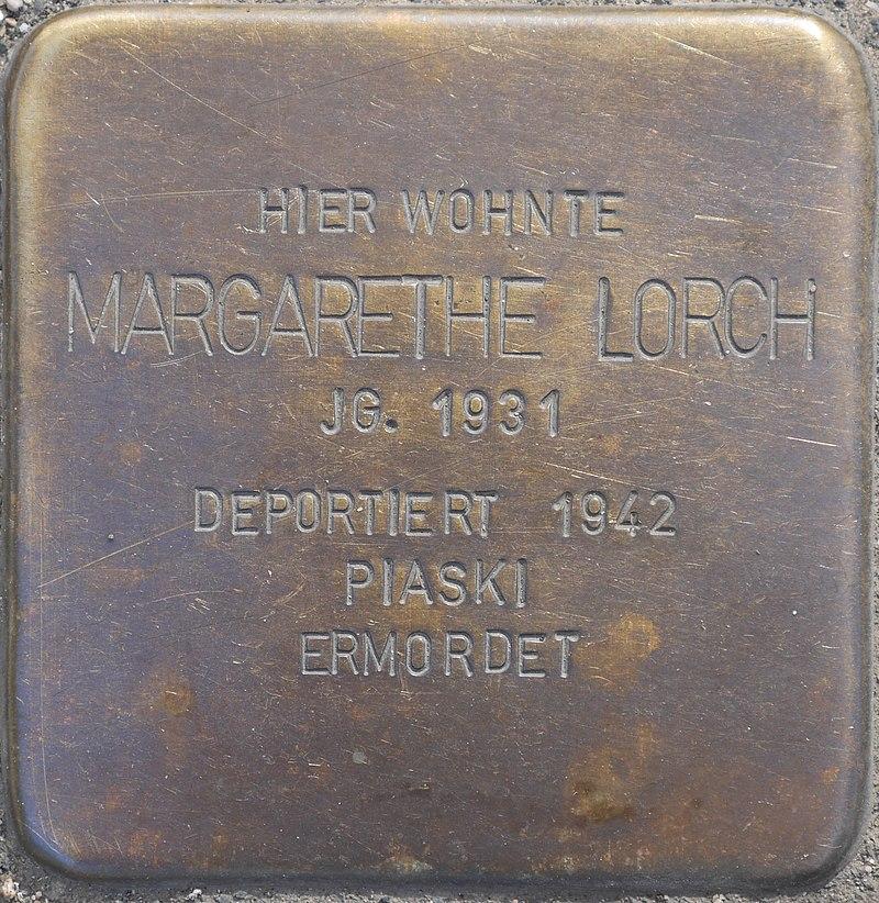 Stolperstein für Margarethe Lorch