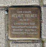 Stolperstein Marburg Helmut Völker Schwanallee 57.JPG