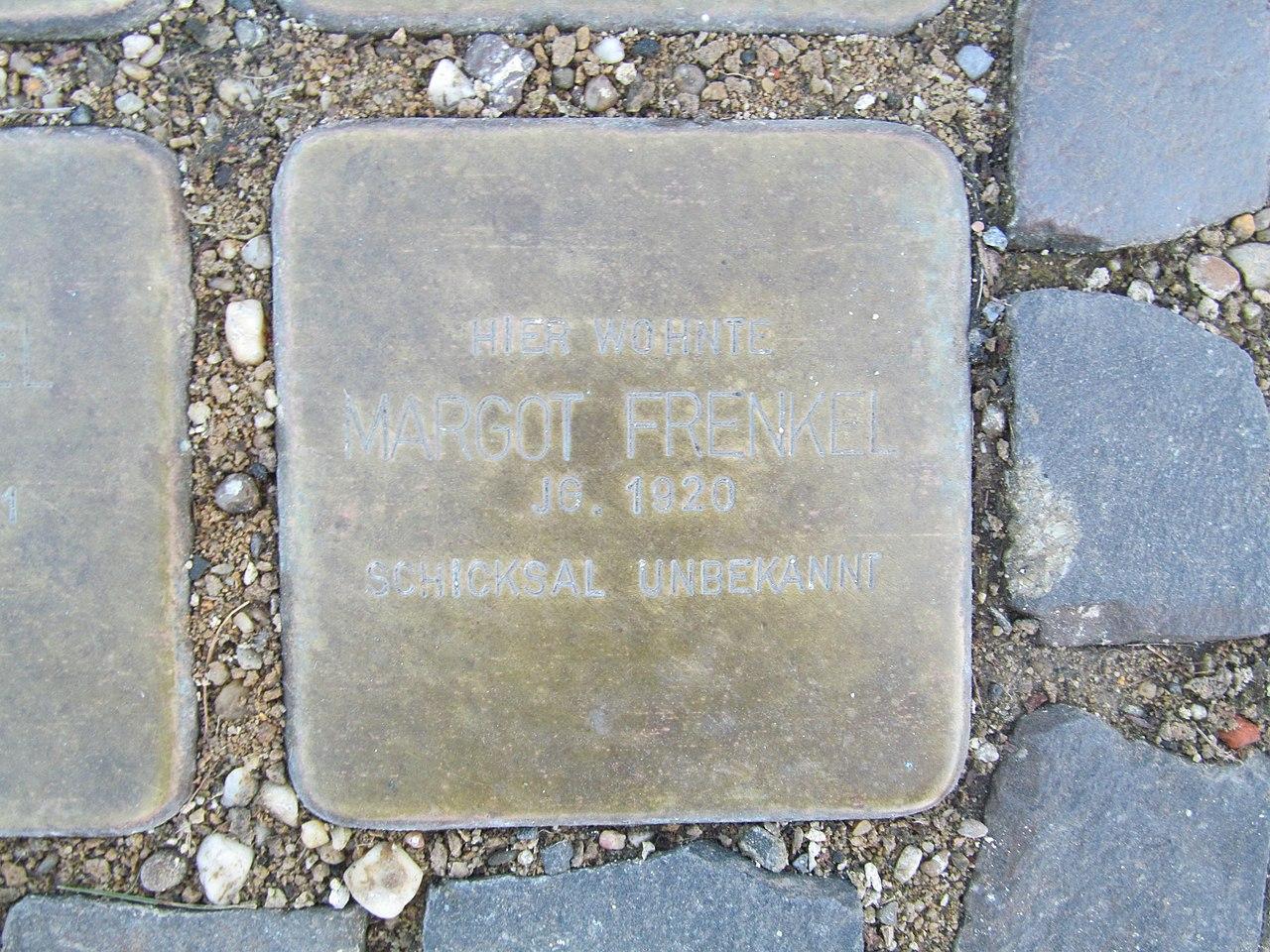 Stolperstein Margot Frenkel, 1, Bahnhofstraße 21, Wabern, Schwalm-Eder-Kreis.jpg