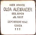 Stolperstein Olga Alexander1.jpg
