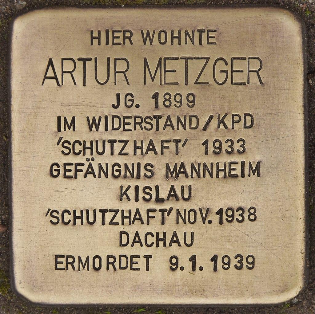 Stolperstein für Artur Metzger (Ketsch).jpg
