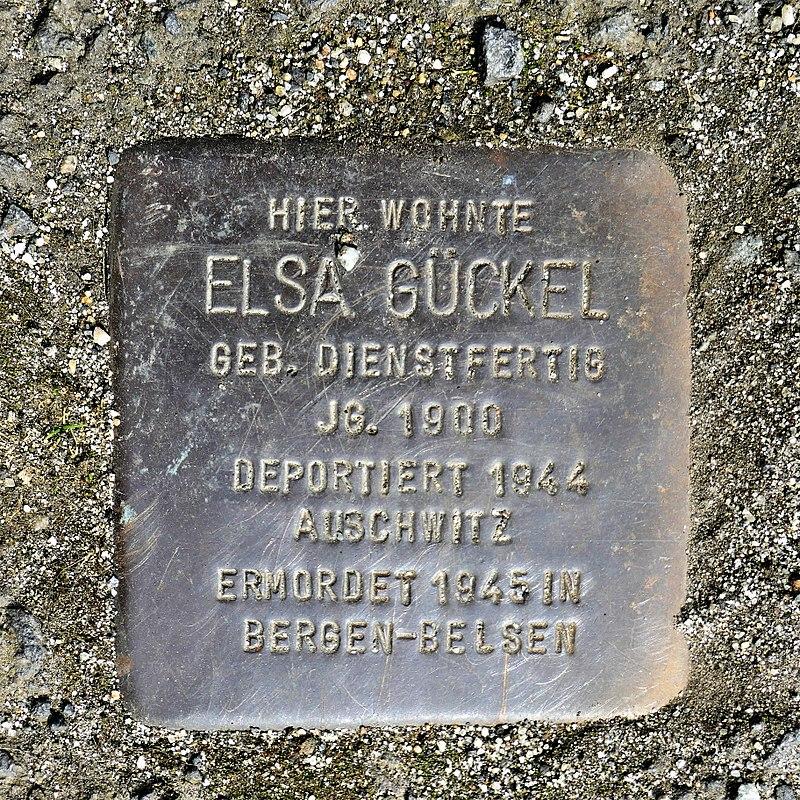 Stolperstein für Elsa Gückel, Nordstrasse 15, Zittau.JPG