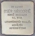 Stolperstein für Nandorne Oser - Oser Nandorne (Budapest).jpg