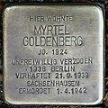 Stolpersteine Köln, Myrtel Goldenberg (Hohenstaufenring 17).jpg