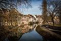 Strasbourg Petite France vue des Ponts-Couverts mars 2015.jpg