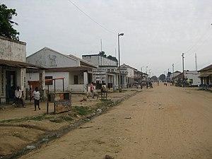 Kindu - A street in Kindu