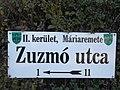Street sign, Zuzmó Street, 2017 Máriaremete.jpg