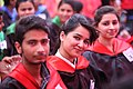 Students are Very Excite To Click Their Picture During 1st Annual Convocation At Punjab University constitute college Patto Hira Singh Moga Punjab India.jpg