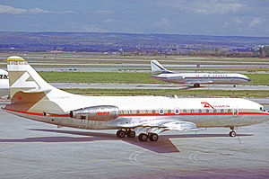 Aviaco - Sud Caravelle 10R of Aviaco at Madrid Barajas Airport in 1973