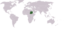 Sudan's location on a map of the world.