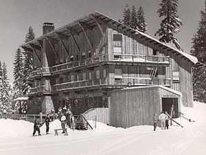 Sugar Bowl Ski Resort - The Sugar Bowl Lodge shortly after it was built in 1939