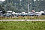 Sukhoi Su-25s '88 red', '71 red', '74 red' & '84 red'. Kubinka 23-8-2017 (37508214982).jpg