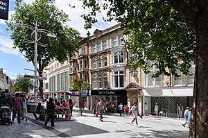 Summer on Queen Street - Cardiff - geograph.org.uk - 1363923