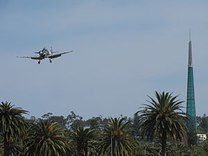 Supermarine Aircraft Spitfire Mk26B at the SAAA Langley Park Fly-in October 2011.jpg