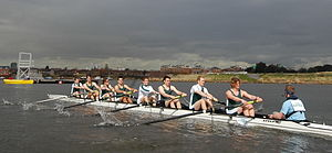 Swansea University Rowing Club - SURC Senior Men on the River Taff after the WBR 2006