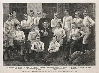 Swansea RFC - Swansea team that won the South Wales Challenge Cup, as depicted on Illustrated Sporting and Dramatic News