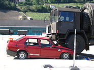 Swiss army accident simulation