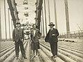 Sydney Harbour Bridge - Sir William Cullen, Miss Cullen, Dr. Bradfield (7653425118).jpg