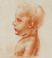 Tête de bébé vue de profil - Léonard de Vinci.png