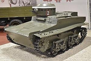 T-37A tank - T-37А, displayed in Kubinka Tank Museum