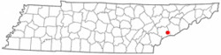 Location of Townsend, Tennessee