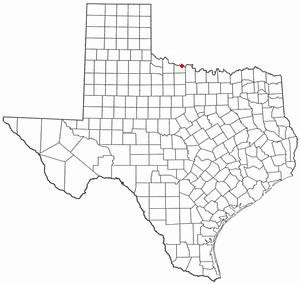 Burkburnett, Texas - Image: TX Map doton Burkburnett