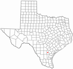 Location of George West, Texas
