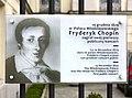 Tablica Fryderyk Chopin Pałac Mlodziejowskich w Warszawie.jpg