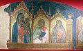 Taddeo gaddi, madonna col bambino e i ss. giovanni ev., antonio abate e un monaco, 1330-50 ca., cappella del castello di poppi, 02.JPG