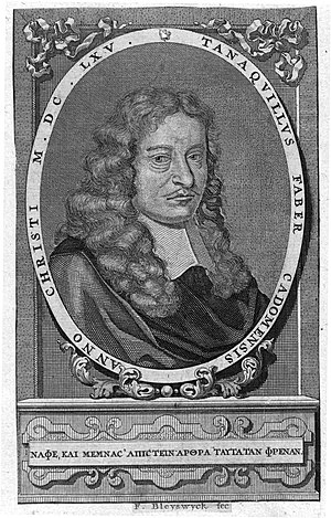 Tanneguy Le Fèvre - Engraving of Tanaquil Faber by Frans van Bleyswyck