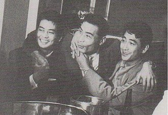 Kōji Tsuruta - From left to right, Mitsuru Ono, Kazuo Taoka and Kōji Tsuruta in 1952.