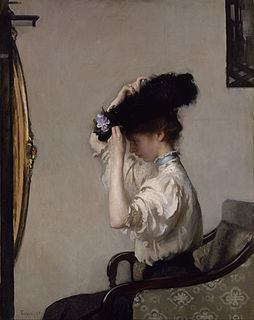 <i>Preparing for the Matinee</i> painting by Edmund C. Tarbell