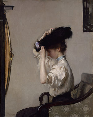 Preparing for the Matinee - Image: Tarbell, Edmund Charles Preparing for the Matinee Google Art Project