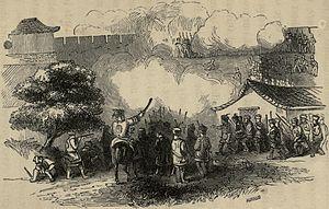 Battle of Chinkiang - Image: Tartars at Chin keang foo