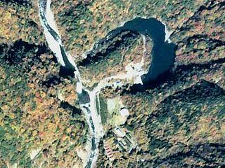 Tashiro Dam dam in Shizuoka Prefecture, Japan