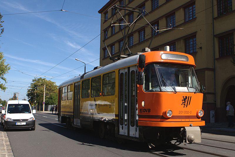Schienenschleifwagen der DVB. Quelle: wikipedia