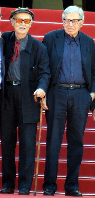 Paolo and Vittorio Taviani - Paolo (right) and Vittorio Taviani at the 2015 Cannes Film Festival.