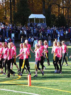 Blonde stereotype - Team Blonde at the 2011 Blondes vs. Brunettes Powder Puff Football Game in Washington D.C.