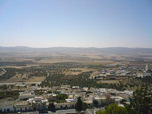 Téboursouk - Image: Teboursouk vue du cimitière