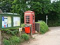 Telephone box by the parish notice board, Plymtree - geograph.org.uk - 1320444.jpg