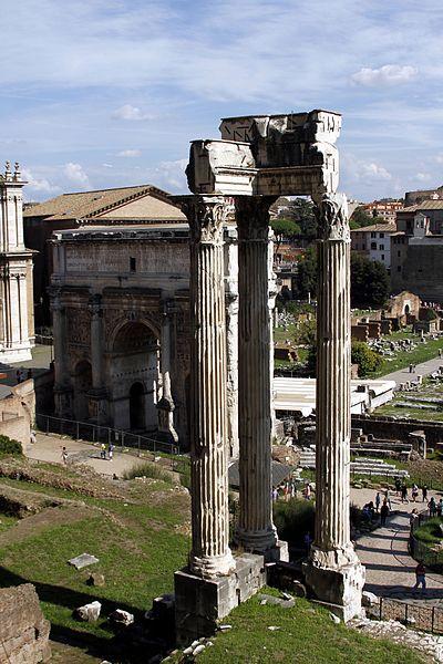 File:Temple of Vespasian and Titus (seen from Tabularium) - Roman Forum - Rome 2016 (2).jpg