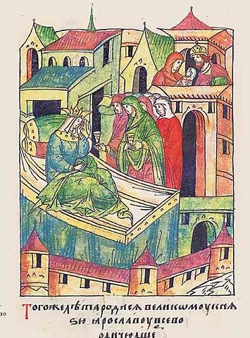 Феодосия Игоревна после родов дочери Марии