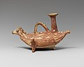 Terracotta askos (flask with a spout and handle over the top) in the form of a bird MET DP121746.jpg