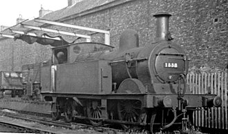 Midland Railway 1823 Class - 1338 at Tewkesbury, Gloucestershire in 1947.