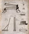 Textiles; equipment for processing flax. Engraving by A. Bel Wellcome V0024073.jpg